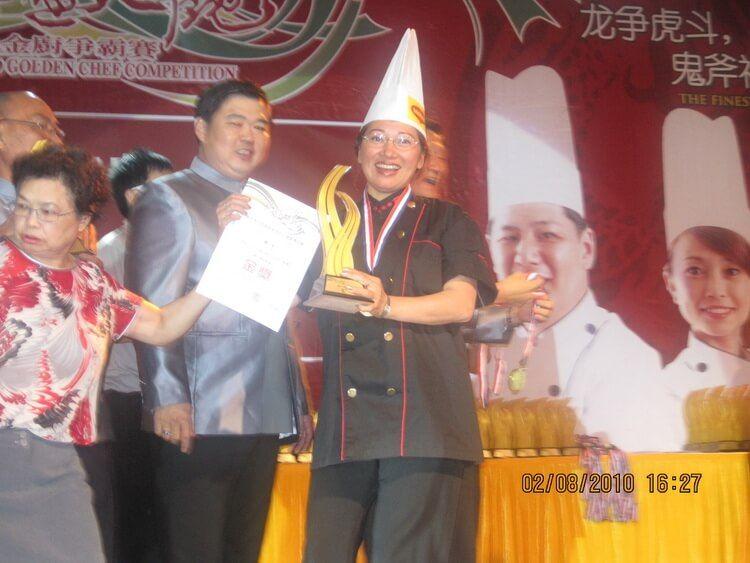 Ping Cao bij de prijsuitrijking